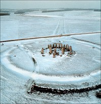 Stonehenge im Winter