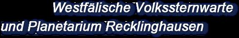 Sternwarte Recklinghausen - Logo